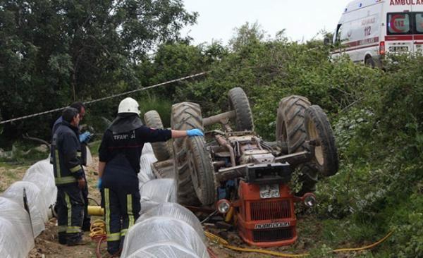 Manavgat'ta feci kaza! Eşinin kullandığı traktörün...