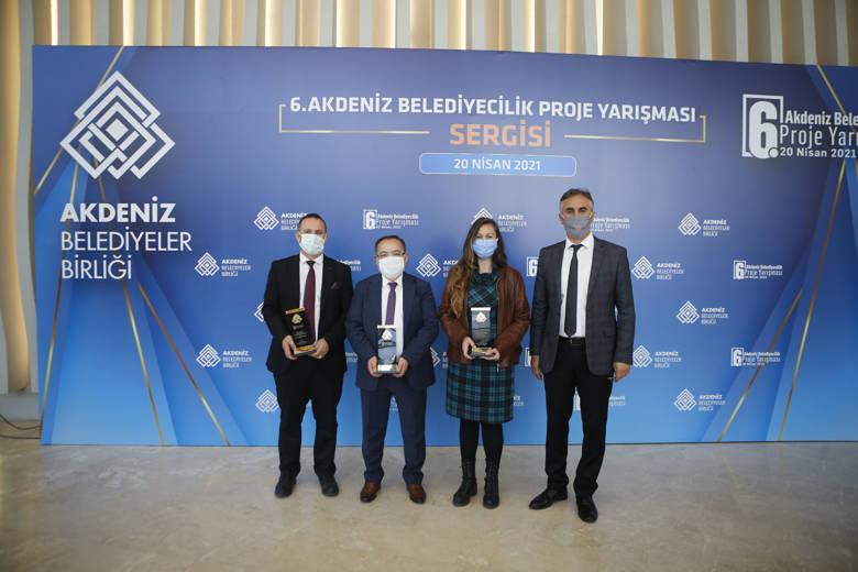 Antalya Büyükşehir Belediyesi'nin üç projesi ödülle taçlandı...