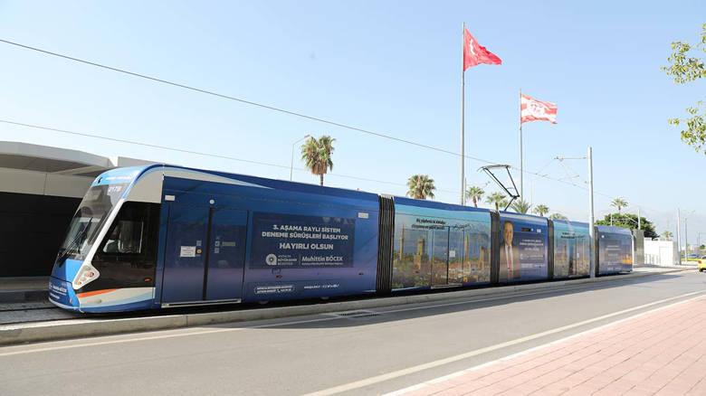 3. Etap Raylı Sistem yolcu taşımaya başlıyor...