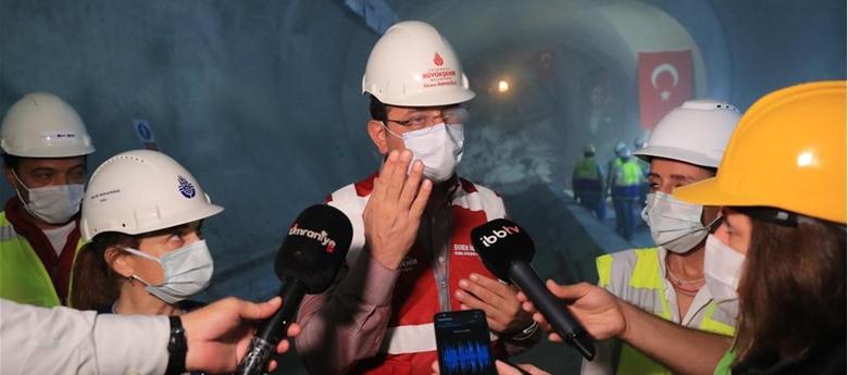 """İMAMOĞLU, YERİN 42 METRE ALTINDA KONUŞTU: """"METRO KREDİLERİ İÇİN İYİ SİNYALLER ALIYORUZ""""..."""