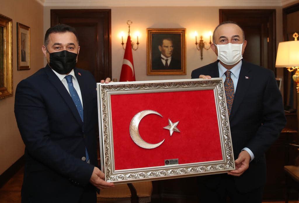 BAŞKAN YÜCEL,BAKAN ÇAVUŞOĞLU'NU ANKARA DA ZİYARET ETTİ...