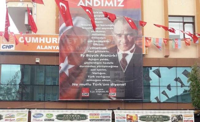 Alanya CHP'den 'andımız' tepkisi...