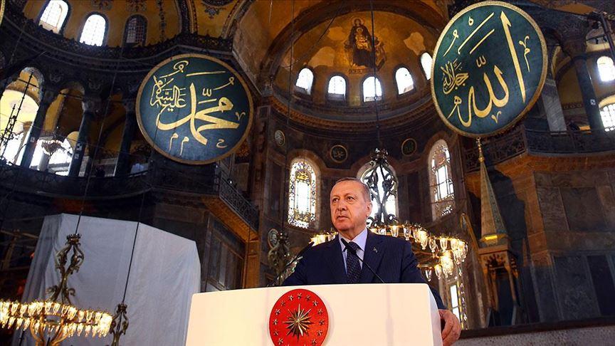 Cumhurbaşkanı Erdoğan, Ayasofya'nın ibadete açılmasına ilişkin kararnameyi imzaladı...