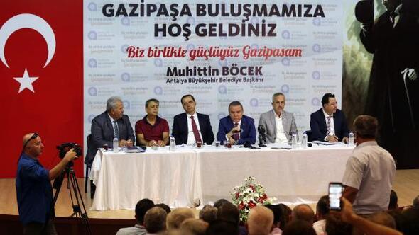 BAŞKAN MUHİTTİN BÖCEK DÜN GAZİPAŞA'DAYDI...