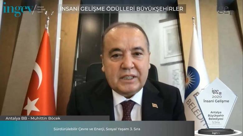Antalya Büyükşehir'e İNGEV'den iki ödül...