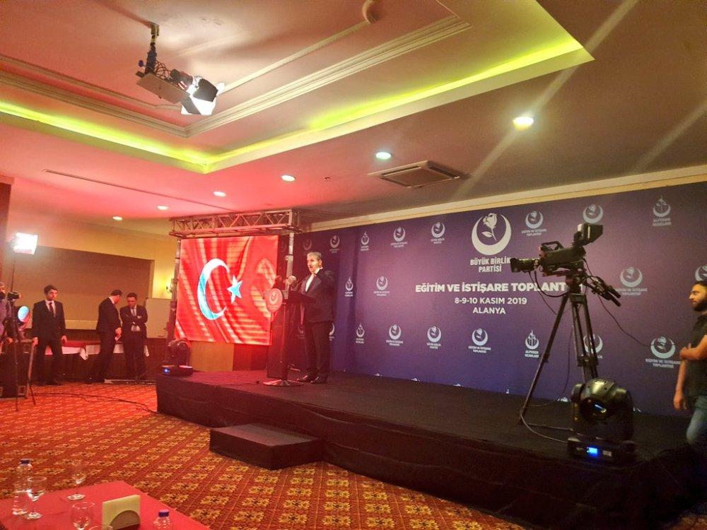 BÜYÜK BİRLİK PARTİSİ İSTİŞARE TOPLANTISI ALANYA'DA BAŞLADI...
