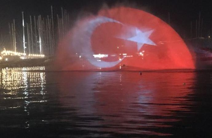 ÜLKEMİZ GELİNCİK TARLASI MİSALİ,AL BAYRAKLARLA SÜSLENDİ...