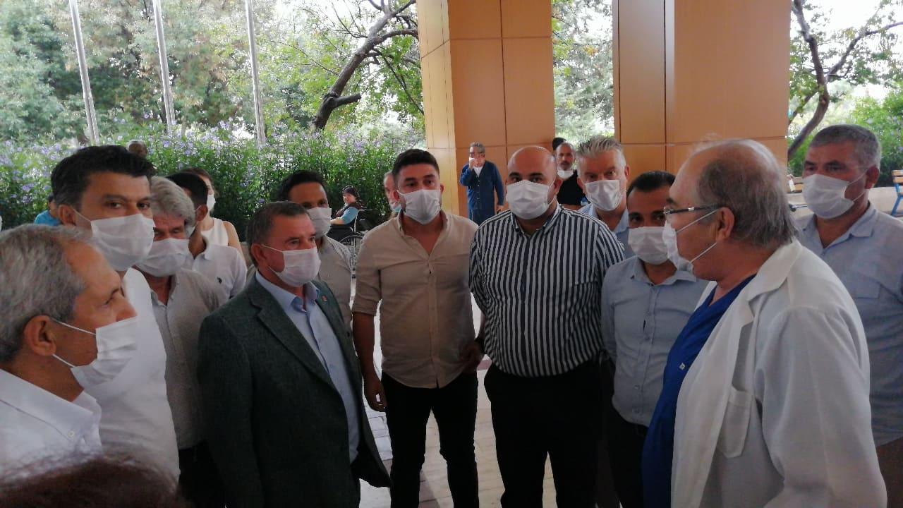 Alanya CHP, Muhittin Böcek için Antalya'daydı...