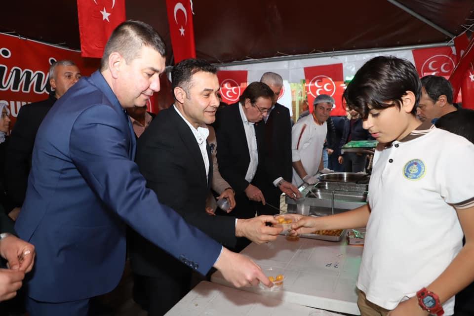 MHP ALANYA TEŞKİLATI KANDİLDE LOKMA İKRAM ETTİ...