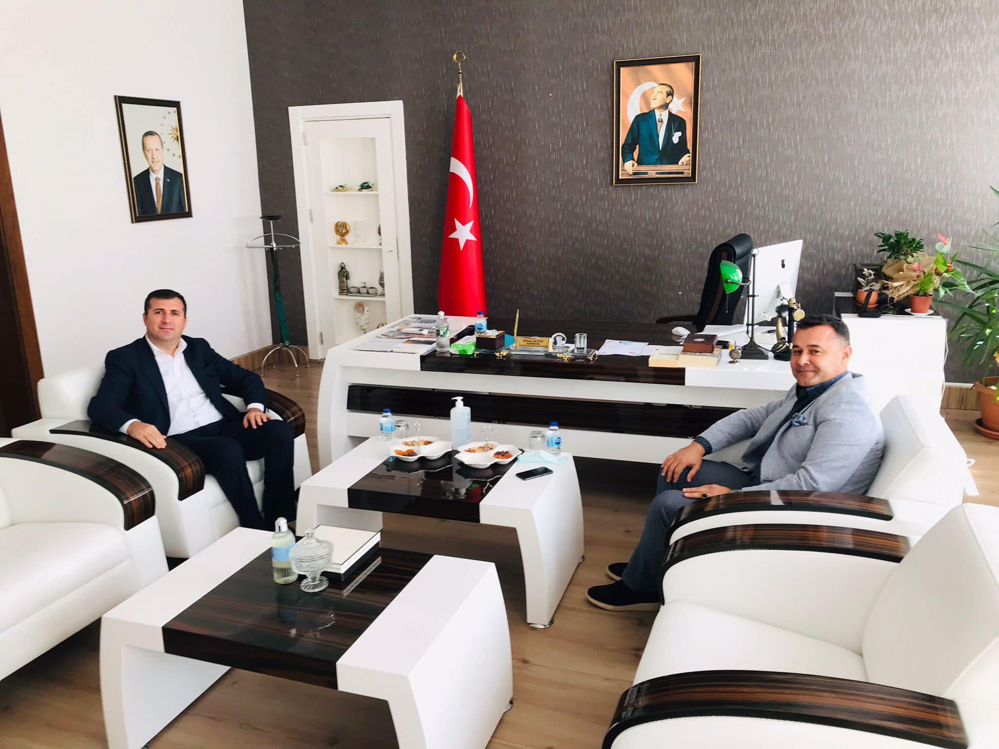 Başkan Yücel'den Gazipaşa'nın yeni kaymakamına 'Hayırlı olsun' ziyareti...