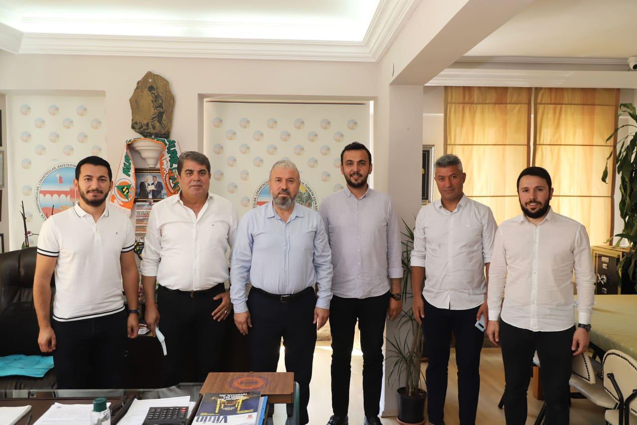 Alanya Ak Parti'den oda başkanlarına ziyaret...