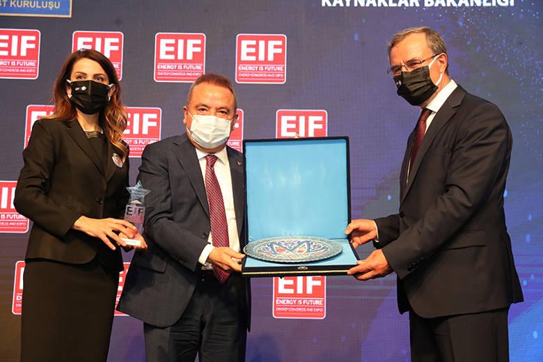 Başkan Böcek Enerji Fuarı'nın açılışına katıldı...