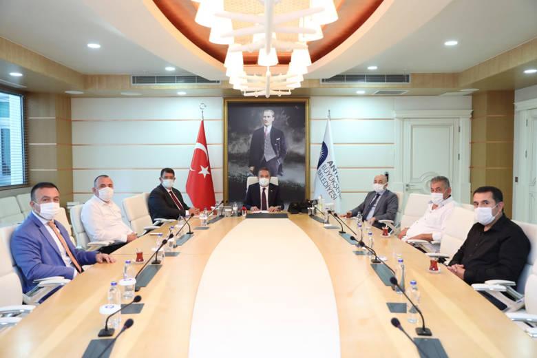 Başkan Böcek AESOB temsilcileri ile görüştü...