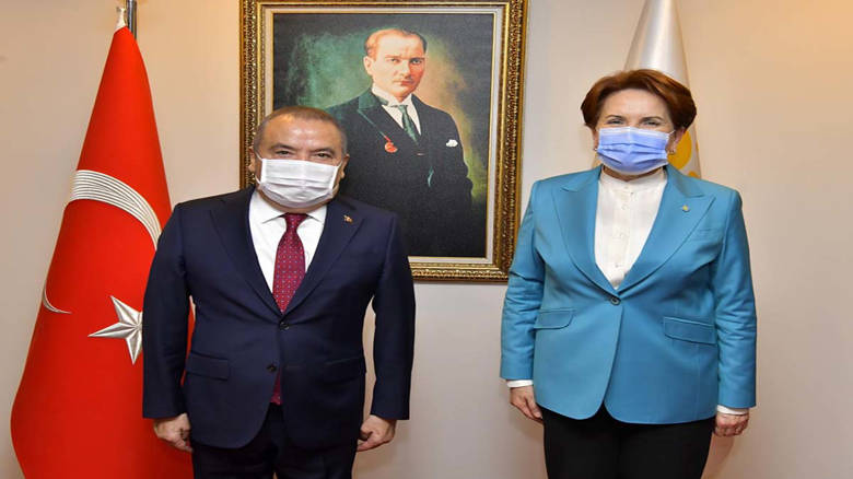 Başkan Böcek'ten İyi Parti Genel Başkanı Meral Akşener'e ziyaret...