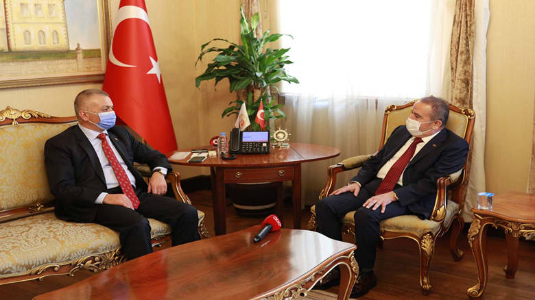 Başkan Böcek'ten Vali Yazıcı'ya ziyaret...