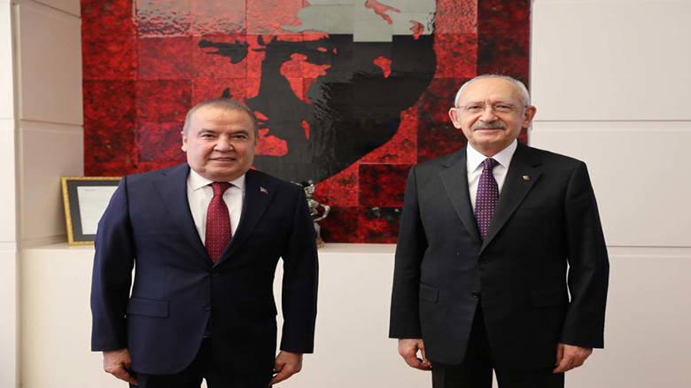 Başkan Muhittin Böcek CHP Genel Başkanı Kılıçdaroğlu'nu ziyaret etti...