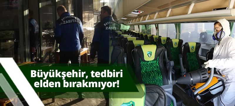 ANTALYA BÜYÜKŞEHİR  BELEDİYESİ TEDBİRİ ELDEN BIRAKMIYOR...