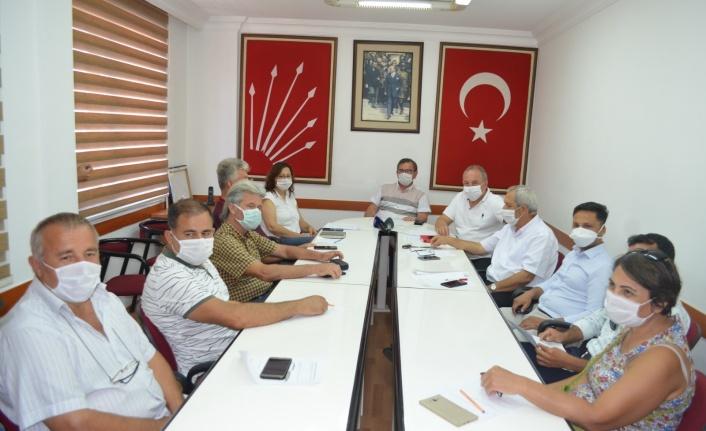 CHP ALANYA TEŞKİLATININ GÜNDEMİ YEREL KONULARDI...