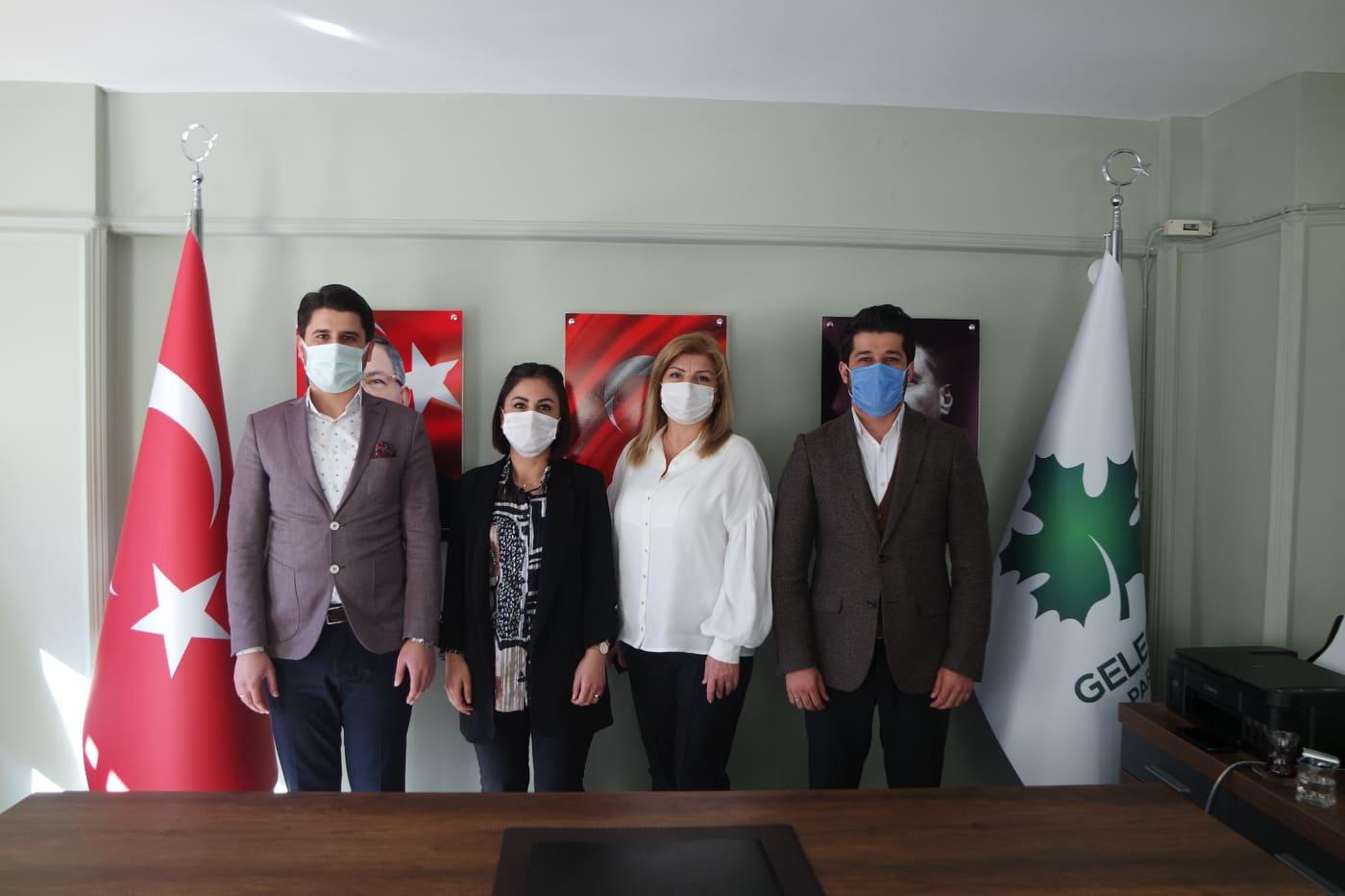 Gelecek Partisi Alanya İlçe Başkanlığı'na Deva'dan ziyaret...