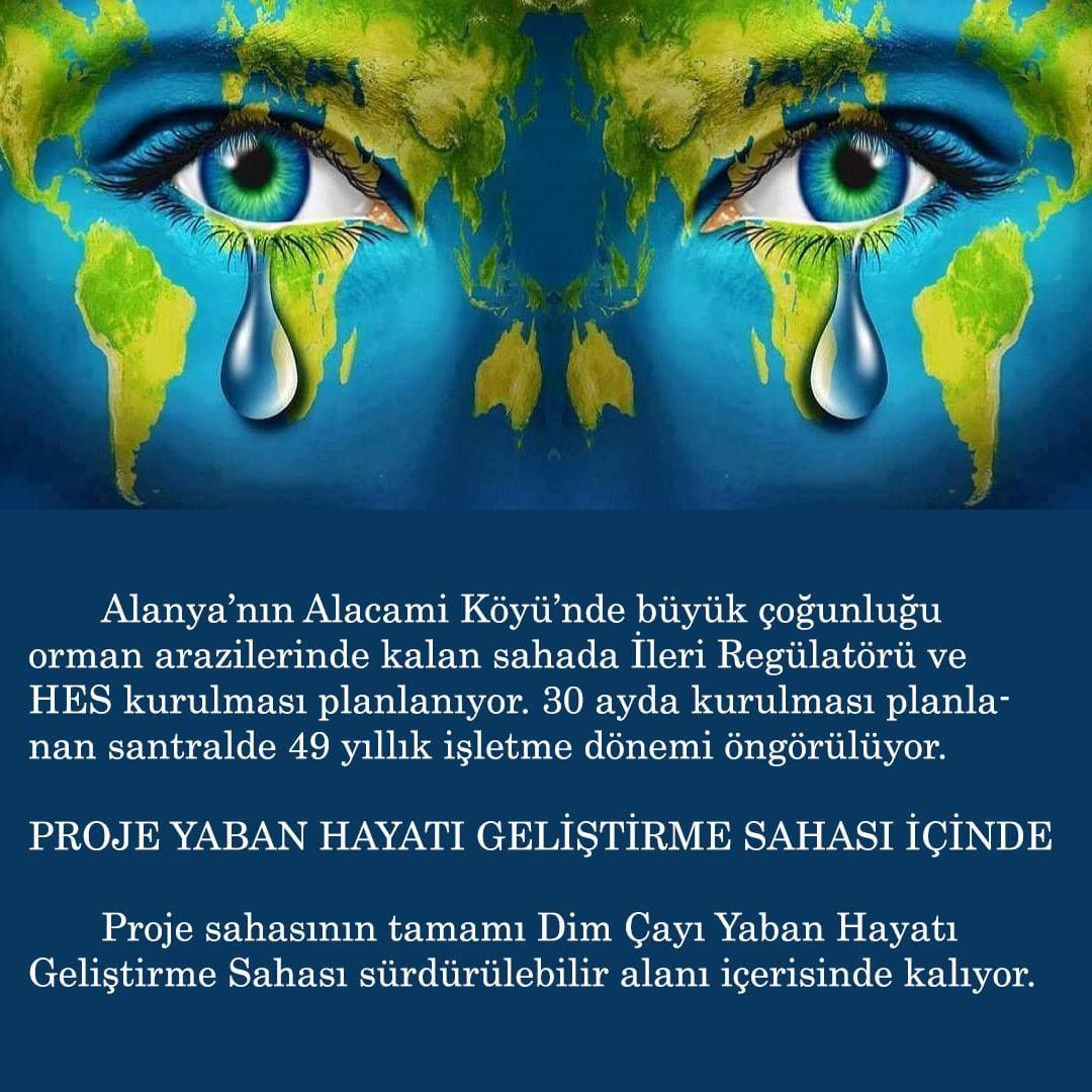 Alanya Dim Alacami'de ikinci HES istenmiyor...
