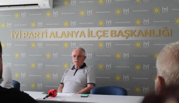İYİ PARTİ ALANYA BAŞKANLIĞI DELEGE SEÇİMİ ÖNCESİ MERCEK ALTINDA...