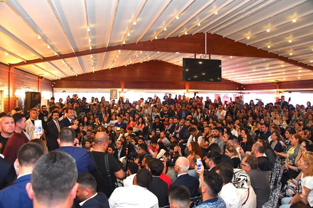 İmamoğlu, 19 Mayıs'ın 100'ncü  yılında Samsun'da gençlerle buluştu.