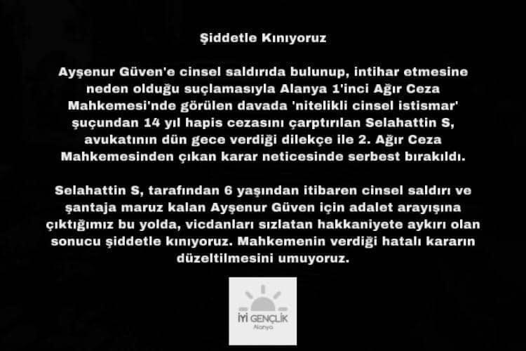 ALANYA İYİ PARTİ GENÇLİĞİNDEN KINAMA...