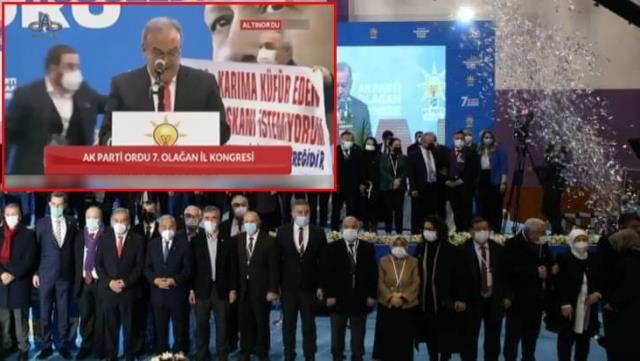 AKP kongresini karıştırdı: Küfür eden başkan istemiyorum...