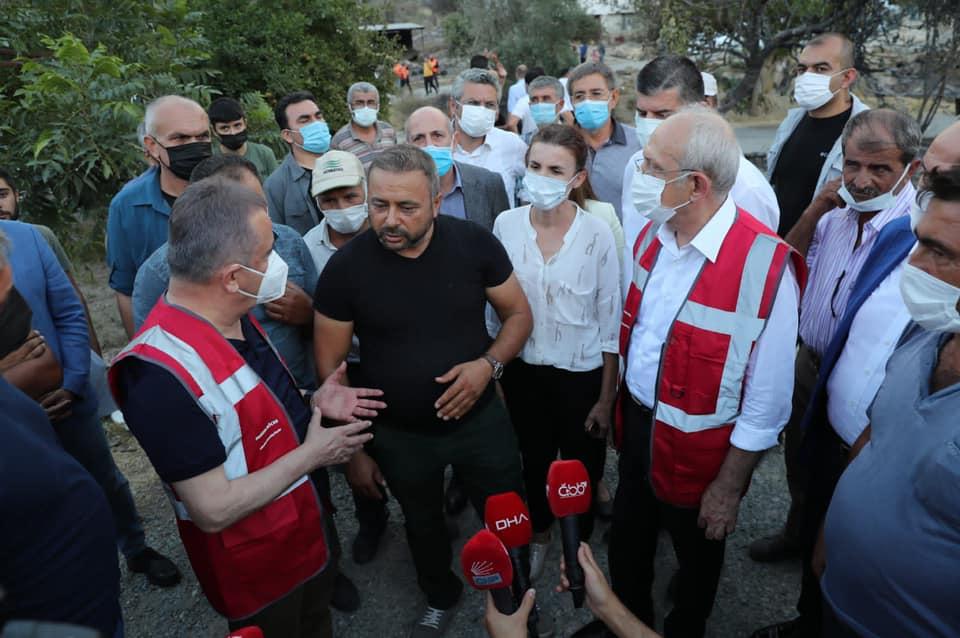 CHP Genel Başkanı Kılıçdaroğlu Manavgat Yangın Bölgesinde...