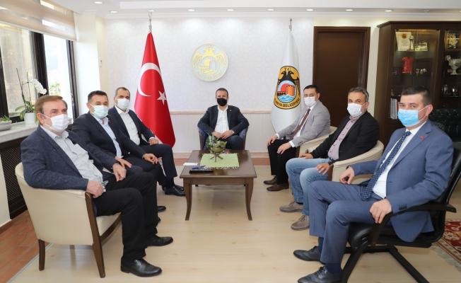 MHP heyetinden Başkan Yücel'e ziyaret...
