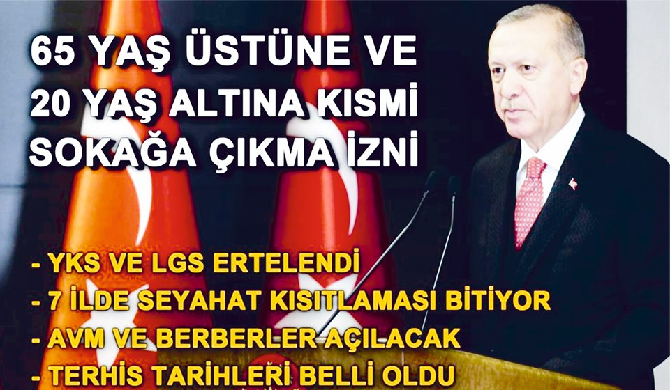 İŞTE TÜRKİYE'NİN NORMALLEŞME SÜRECİ...