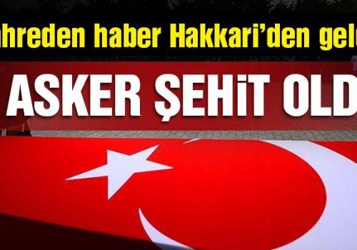 ŞIRNAK-SİLOPİ DE Kİ ÇATIŞMADA 3 MEHMETÇİK ŞEHİT OLDU...