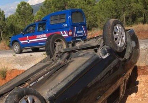 Antalya'da askeri araç devrildi: 3 Asker yaralı...
