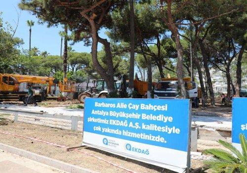 Büyükşehir Belediyesi Barbaros Aile Çay Bahçesi'ni yeniliyor...
