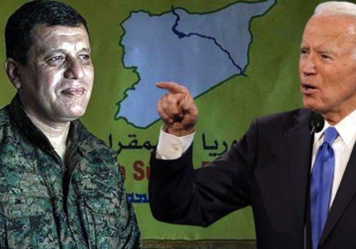 Teröristbaşı Mazlum Kobani itiraf etti: Biden bizi Suriye'de yalnız bırakmayacağının sözünü verdi...