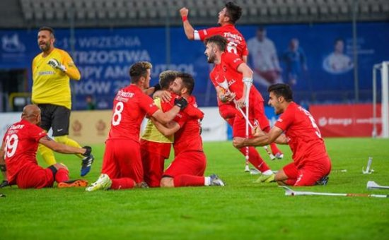 2021 Avrupa Şampiyonası finalinde İspanya'yı 6-0 deviren Ampute Futbol Milli Takımı şampiyon oldu...
